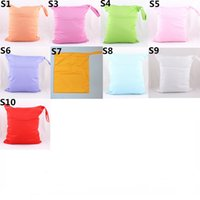 Wholesale Zippered Tote Wholesale - [Sigzagor]Wet Dry Bag, Zippered Diaper Bag, Nappy Bag,Reusable,Two Zippers, 6 pcs Lot, 9 Corlors for Choose, Wholesale