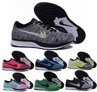Wholesale Black Tops Spikes - Free Shipping Top Quality Fly Racer Running Shoes For Women & Men, Lightweight Breathable Athletic Outdoor Sneakers Eur 36-45