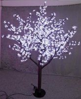 Wholesale led cherry trees - LED Christmas Light Cherry Blossom Tree 480pcs LED Bulbs 1.5m 5ft Height Indoor or Outdoor Use Free Shipping
