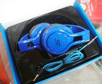 Wholesale Sms Street Dj - SMS Audio STREET 50 Cent Noise Cancel DJ Headphone Wired Over Ear Headphones Gaming Bike Frame Headset For Iphone smartphone MP