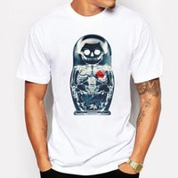 Camping Escursionismo T-Shirt T-Shirt Uomo Skull Heart anime Cartoon Stampa estate 3d T Shirt Bianco Manica corta hip hop divertente Casual Tshirt Homme
