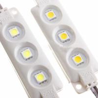 módulo led vermelho 12v venda por atacado-Melhor qualidade à prova d 'água IP67 5050 Módulo SMD LED 12 V Branco / Vermelho / Verde / Azul / super brilhante módulos de Moldagem Por Injeção lente clara