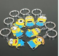 Wholesale Despicable Jewelry - Fashion Jewelry Creative Cartoon Movie Despicable Me Lovely Toy Role Minions Army Pendant Key Chain Ring