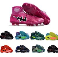Wholesale 2017 Magista Obra II FG Soccer Shoes Cleats With ACC High Top Youth Women Boy s Football Sneakers Waterproof Eur