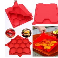 Wholesale Rubber Press - New 1Pcs Hamburger Press Mold Red Silicone Meat Burger Press Maker ,Freezer Container Barbecue Kitchen Accessories