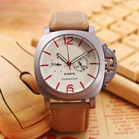 Wholesale Clock Days - Top Brand Men Watches Luxury Watch Mechanical Automatic Small Dials Work Leather Strap Sports Army Wristwatches for men relojes clock Gift