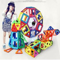 Wholesale 166pcs Mini Magnet Construction Toys Set Early Enlighten Educational Toys For Children D Magnetic Building Blocks Made In China