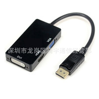 HD 1080P Thunderbolt Combo 3 in1 Displayport multifunzione DP a cavo VGA HDMI DVI Adapter per Nootbook MacBook Pro Air