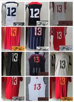 Wholesale Dreams Chinese - 2017 All Star #13 JH Basketball 2014 Dream Team Signed Stitched Jersey Christmas Chinese Throwback Clutch City Signature Men Youth