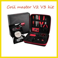 Wholesale Newest coil master V3 kit DIY tool bag coil winder Coil Master Tool Kit For RDA RBA Atomizer ecigs