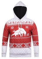 Wholesale Deer Belt - 3D Red christmas deer Team clothing Street style coat hip hop sweatshirts hoodies winter moleton masculino Men tracksuit