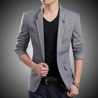 Wholesale Man S Formal Occasion - Blazer New style custom One Button Suit Jacket Korean Style high Quality Slim Fit Man Jacket formal occasion man jacket
