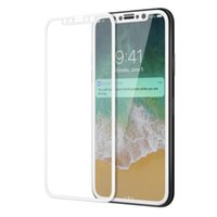 Wholesale Iphone Original Protector - Soft side for iphone X glass x edition Mofi original film protector apple X full cover anti glare knock for iphoneX glass