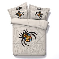 Spider Knotting New Fashion 3D Literie Ensembles 4pcs Ensembles de couette Tiwn Full Queen King Size Duvet Housse Feuille de lit Coussins cenery
