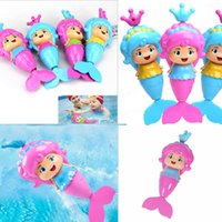 Vente en gros- Baby Kawaii Mermaid Clockwork Dabbling Bath Toy Classic Natation Wound Up Toy Water Wind Up Cartoon Jouet d'apprentissage éducatif