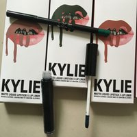 Wholesale Wholesale Heel Liners - 5 kits New Arrival KYLIE JENNER lip kit valentine head over heels Kylie Matte Pasty Lipstick + Lip Liner free shipping