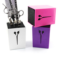 Wholesale Hair Plastic Salon - New Hair Scissors Holder Fashion Salon Professional Scissor Set Organization Storage Box High Quality 6 Colors 0604086