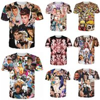 Wholesale Lana Del Rey T Shirt - Wholesale- New T Shirt Justin Bieber Miley Cyrus Monroe Tyler The Creator Lana Del Rey Resident Evil Zombie 3D Print T-shirt Tshirt Clothes