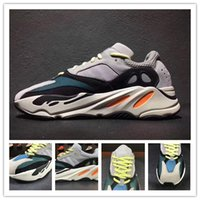 Wholesale Running Wave - 2017 Christmas gift Kanye West Wave Runner 700 Running Shoes White-Core Black Authentic Boost 700 Casual Sports Sneakers size 36-46