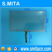 """Wholesale General Dvd - Wholesale- 6.2"""" inch General 4 wire resistive 155*88 155mm*88mm HSD062IDW1 touch glass digitizer Screen car-DVD Touch screen ZCR-1126"""