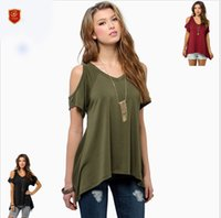 Wholesale Long Sleeved Shirts Shawl - European Style Women's T-Shirt Round Neck Shawl Short-Sleeved Fish Tail Hem Short-Sleeved Seven-Color Six Yards Clothes Plus Size Women Clot