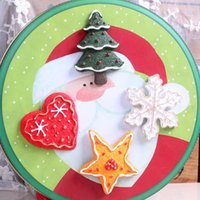 Wholesale Three Dimensional Refrigerator Magnets - 2017new Lovely retro Christmas creative three-dimensional magnetic clasp refrigerator magnet absorption hot style home decoration holiday