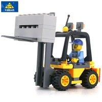 Wholesale Enlighten Kazi - KAZI 8041 Enlighten ToyBuilding Blocks Gift for Kids Forklift Boy Building Bricks Kit Assemble Set