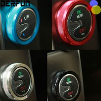 Wholesale air conditioning switch - VOLVO 2011 - 2014 XC60 S60 2013 - 2014 V40 air conditioning knobs decorative metal ring cover stickers