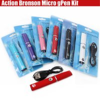 Wholesale micro dry - Top Action Bronson Herbal Vaporizer Blister Kit Wax dry herb atomizer micro Pen Portable Elips vapor e cig cigarettes vape Colorful kits DHL