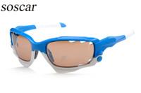 Wholesale Wrap Jackets For Women - soscar RACING JACKET Brand Designer Sunglasses for men Ride Sports Sunglasses Comfortable Eyeglass Flash Mirror Lenses