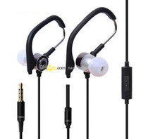 Wholesale Ears Hood - High Quality Ear Hood Headphones Mic 3.5mm In-Ear Earphones Earbuds With Mic and Remote Control Metal Headset Gold with Retail Package