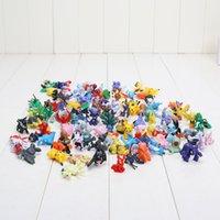 suicune figur großhandel-144 stücke figuren spielzeug 2-3 cm charizard eevee bulbasaur suicune pvc mini modell spielzeug für kinder