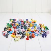 suicune figur großhandel-144 stücke Figuren Spielzeug 2-3 cm Pikachu Charizard Eevee Bulbasaur Suicune PVC Mini Modell Spielzeug Für Kinder