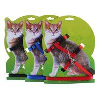 kedi temel toptan satış-Ayarlanabilir Naylon Kedi Yavrusu Tasma Sertliği Yavru Kediler Meme-Bant Temel Tasması Açık Dayanıklı Yürüyüş Köpekler Için 6 Renkler Köpek Ürünleri