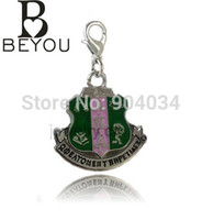 Wholesale AKA Sorority Crest Charm With Small Lobster Hook