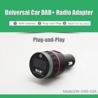 Wholesale Universal Car DAB DAB Radio Digital Audio Broadcasting Receiver Tuner with FM Transmitter converter Plug and Play Adapter