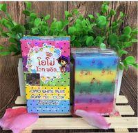 Wholesale Whitening Beauty Soap - Thailand Pure Handmade Soap Whitening Skin Anti-aging Oil-control Body Beauty Lightening Rainbow Cleaning Soap Anti Dark Spot Rainbow Soap