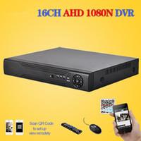 16ch hdmi cctv dvr al por mayor-CCTV en casa CCTV DVR 16CH Grabador de video digital 16 canales AHD 1080N WIFI Vigilancia de seguridad híbrida DVR NVR 16ch 1080P HDMI