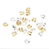 Wholesale wire 4mm - 1000pcs wire protectors Wire Guard loops U shape accessories for Jewelry Making 4mm