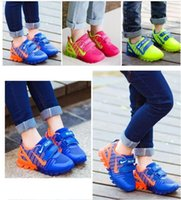 Wholesale multi color net lights - Us size girls sneakers with light new spring sport running girls fashion sneakers kids led net breathable boys shoes