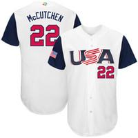 Wholesale Cheap Baseball Uniform - #22 McCutchen Baseball Jerseys 2017 World Baseball Classic Jersey #35 Hosmer Men Uniform #10 Jone White Cheap Wears Big Sale