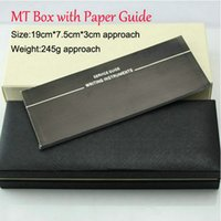 Wholesale Gift Boxes For Pens - Free Shipping MB High Quality Gift binding Box For Roller Ball Pen   Fountain Pen  Ballpoint Pen Compensate Price