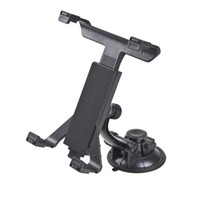 Wholesale Back Windshield - Wholesale-New Universal PC GPS Car Windshield Back Seat Headrest Table Mount Tablet Holder For iPad 2 3 4 5 Tablet Stand Black Wholesale