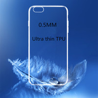Wholesale xiaomi crystal - Ultra-thin 0.5mm Crystal Transparent Clear Soft Silicon TPU Cases Cover For Xiaomi Mi5 Mi4 Redmi 3S 3X MAX Samsung S8 plus S7 edge LG G5 I7