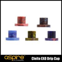 Wholesale Exo Caps - 100% Original Aspire Cleito EXO Drip Cap Resin Drip Tips Mouthpieces Cover For Cleito EXO Tank Atomizer