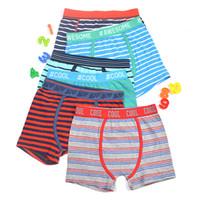 Wholesale Cheap Boys Boxer Briefs - cheap!cool awesome boys striped trunk boxers kids multipack shorts child panties cotton pants children underwear sport briefs 2-16Y 4pcs lot