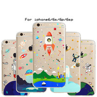 Wholesale Iphone Cartoon Cases Order - Cartoon Stylish Universe Astronaut Printed For iphone 7 7p 6 6P 5 5S Cell Phone Cases Protection Phone Cover Accept Mix Order Free Shipping