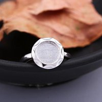 Wholesale Round Ring Mount Setting - 925 Sterling Silver 8.5x8.5mm Round Cabochon Semi Mount Women Engagement Ring