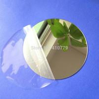 Wholesale Plastic Acrylic Sheets - Wholesale- SAMPLE Acrylic Mirrors Round Sheet Plastic PMMA Glass Hotel Decorative Lens Laser Brand 10pcs lot Diameter 100x1mm