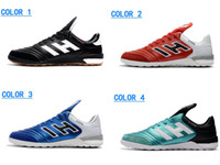 Wholesale flat tango shoes resale online - Copa Tango IN Soccer Shoes Football Shoes Outdoor Soccer Cleats High Quality Leather Indoor Football Boots